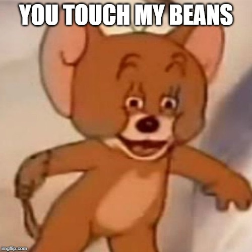 Polish Jerry | YOU TOUCH MY BEANS | image tagged in polish jerry | made w/ Imgflip meme maker