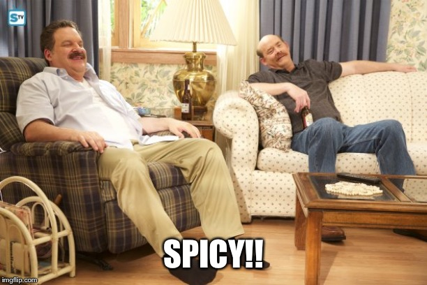 Goldberg Mustaches | SPICY!! | image tagged in goldberg mustaches | made w/ Imgflip meme maker