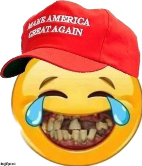 Trump supporter smiley | image tagged in trump supporter smiley | made w/ Imgflip meme maker