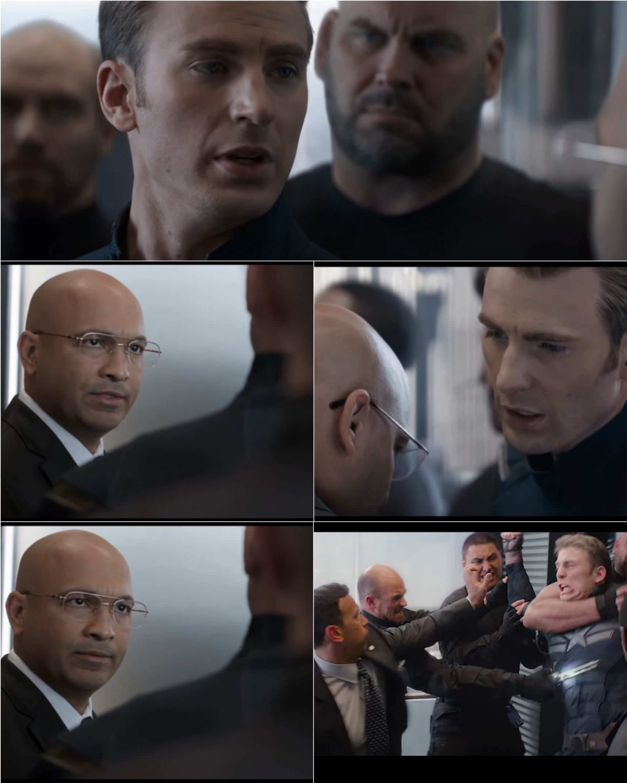 Captain America elevator fight scene Blank Template - Imgflip
