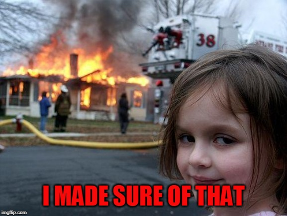 Disaster Girl Meme | I MADE SURE OF THAT | image tagged in memes,disaster girl | made w/ Imgflip meme maker