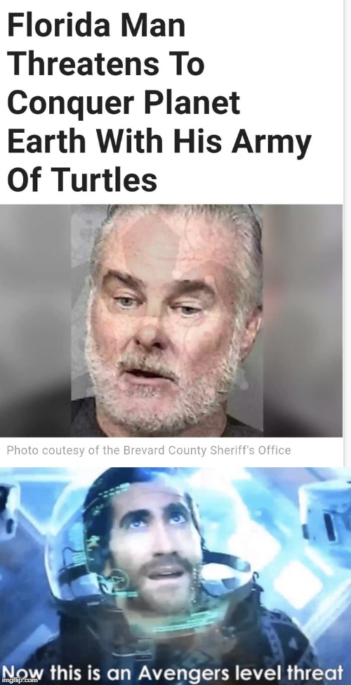 Oh no! He must be stopped! | image tagged in now this is an avengers level threat,thanos,hitler,turtle,oh no,florida man | made w/ Imgflip meme maker