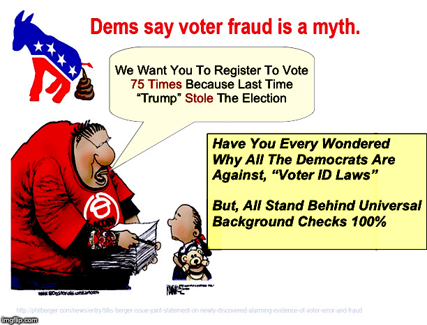 Dems Voter Fraud | image tagged in voter fraud,democrats,voter id,trump,election 2020 | made w/ Imgflip meme maker