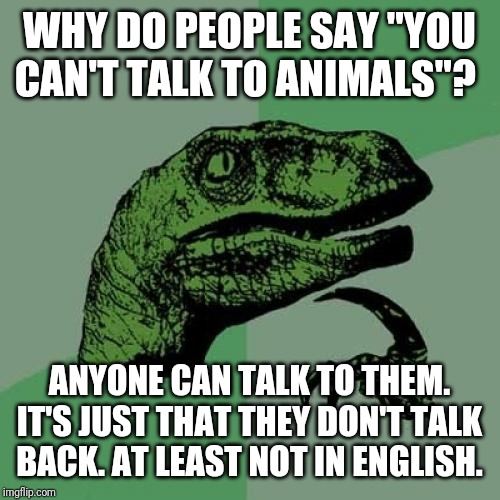 "It should be called ""taking (telepathically) WITH animals"" ""not taking to"" 