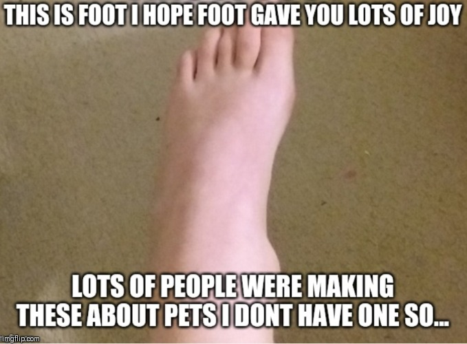image tagged in foot | made w/ Imgflip meme maker