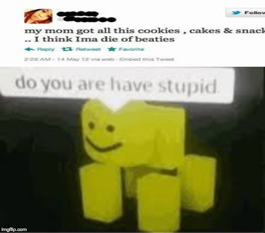 stoopid | image tagged in do you are have stupid,memes,roblox,twitter,funny | made w/ Imgflip meme maker