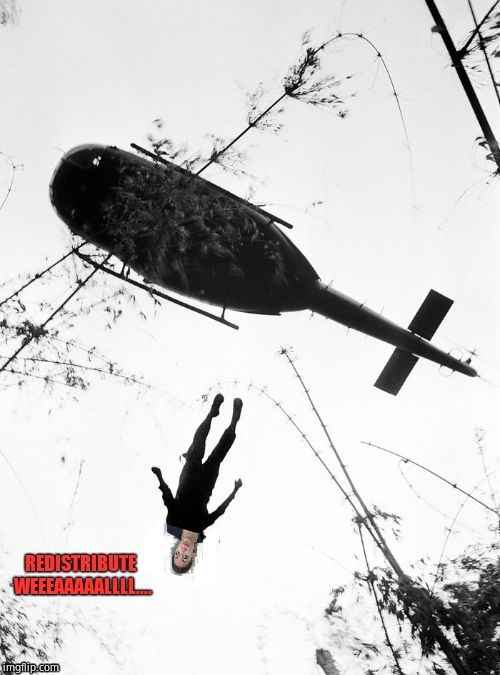 AOC falling from grace | image tagged in aoc,alexandria ocasio-cortez,helicopter,communism,get outta da choppah | made w/ Imgflip meme maker