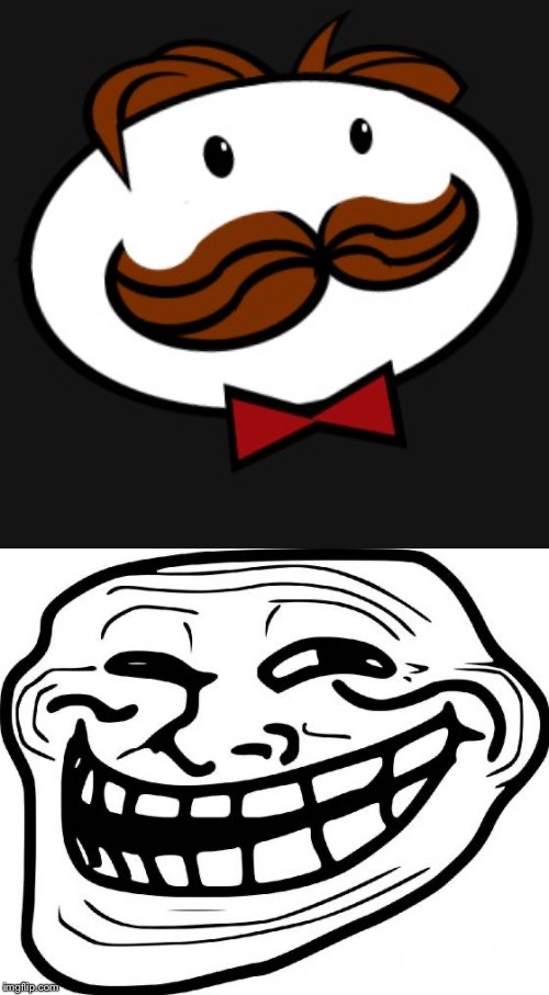 image tagged in memes,troll face,pringles | made w/ Imgflip meme maker