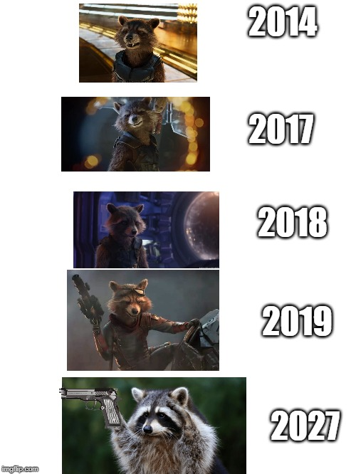 "rocket racoon's...""enhancement"" 