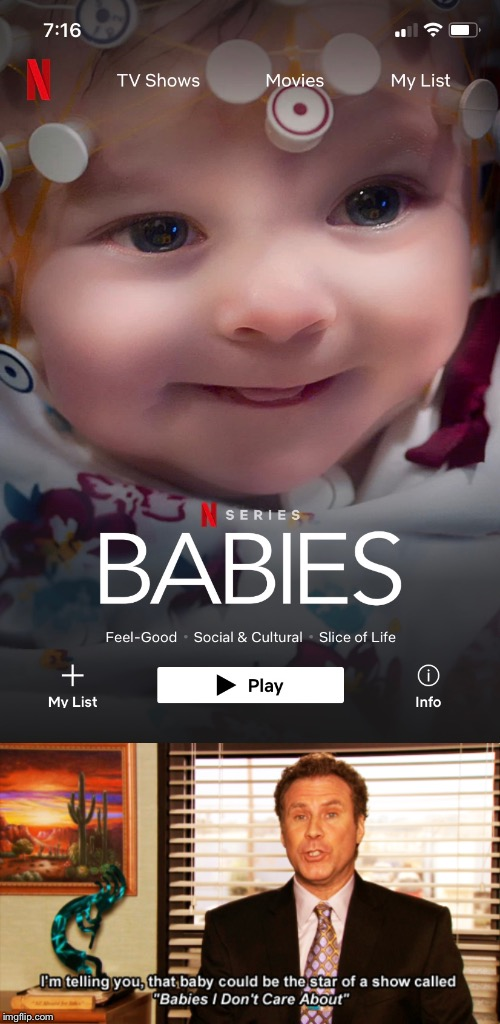 image tagged in the office,netflix,babies | made w/ Imgflip meme maker