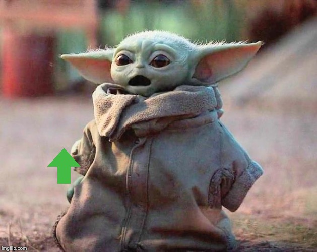 Surprised Baby Yoda | image tagged in surprised baby yoda | made w/ Imgflip meme maker