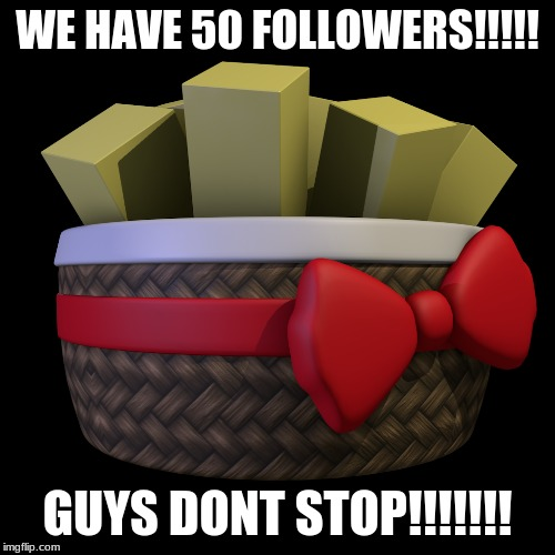 FIFTY FOLLOWERS |  WE HAVE 50 FOLLOWERS!!!!! GUYS DONT STOP!!!!!!! | image tagged in memes,exotic butters | made w/ Imgflip meme maker