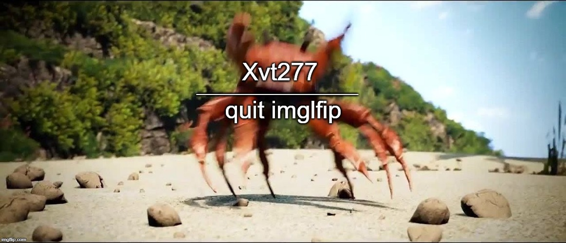 It's Over, the sexism is finally over |  ____________; Xvt277; quit imglfip | image tagged in crab rave,memes,imgflip users,xvt277,imglfip,meanwhile on imgflip | made w/ Imgflip meme maker