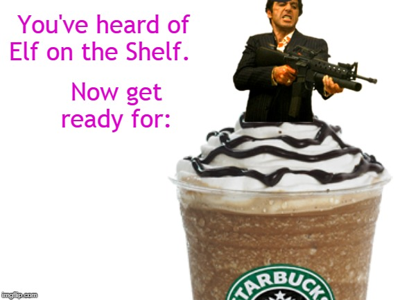 """Say hello to my little Venti!"" 
