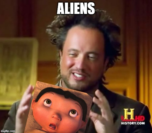 Ancient Aliens | ALIENS | image tagged in memes,ancient aliens | made w/ Imgflip meme maker