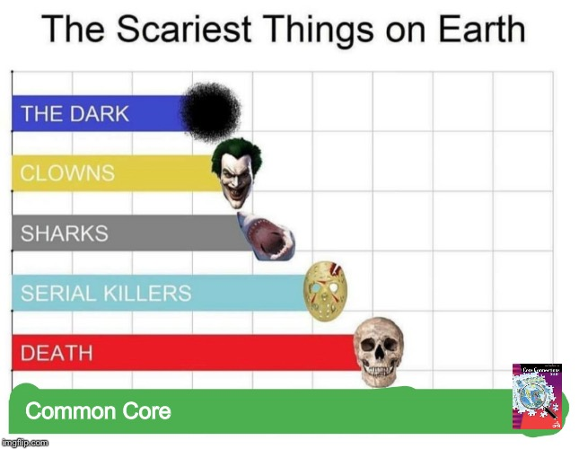 scariest things on earth |  Common Core | image tagged in scariest things on earth | made w/ Imgflip meme maker