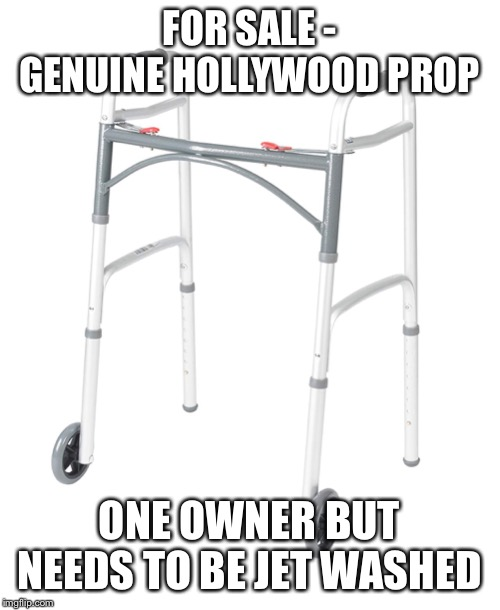FOR SALE - GENUINE HOLLYWOOD PROP; ONE OWNER BUT NEEDS TO BE JET WASHED | image tagged in harvey weinstein | made w/ Imgflip meme maker