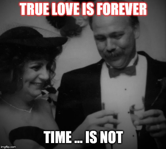 TRUE LOVE IS FOREVER; TIME ... IS NOT | image tagged in true love,time | made w/ Imgflip meme maker