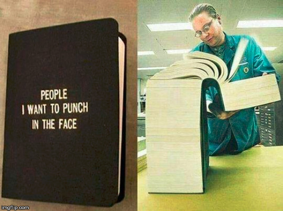 This is just the first volume. Now get off my lawn! | image tagged in big book,punch | made w/ Imgflip meme maker