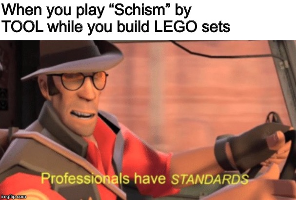 "It's a standard |  When you play ""Schism"" by TOOL while you build LEGO sets 