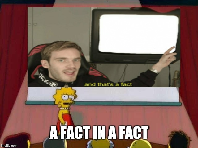 A FACT IN A FACT | made w/ Imgflip meme maker
