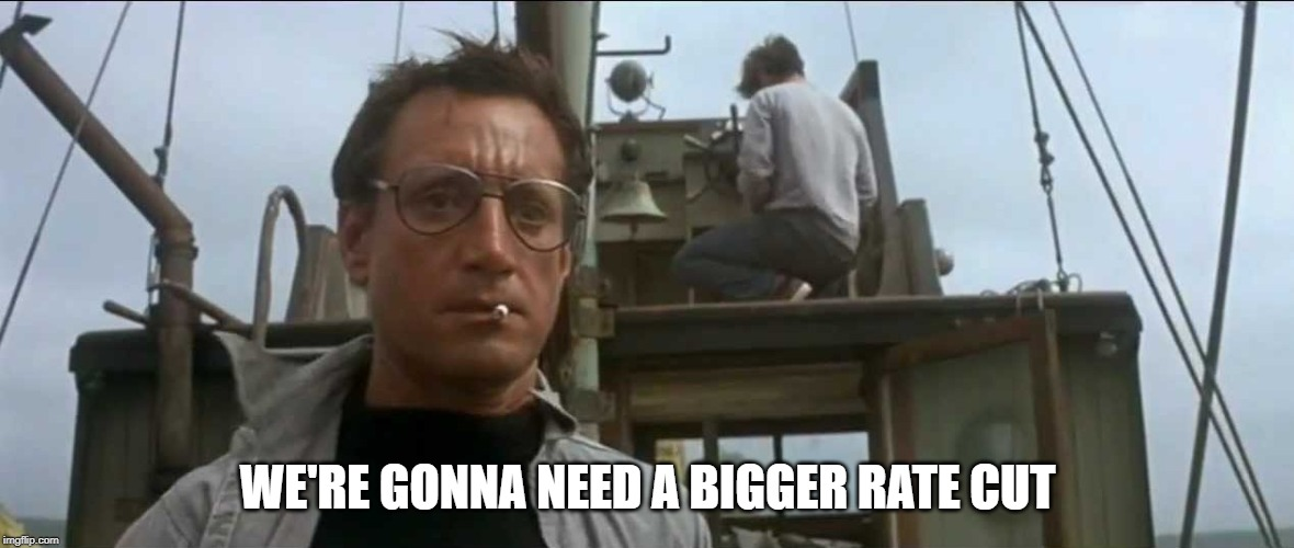 federal reserve |  WE'RE GONNA NEED A BIGGER RATE CUT | image tagged in federal reserve | made w/ Imgflip meme maker