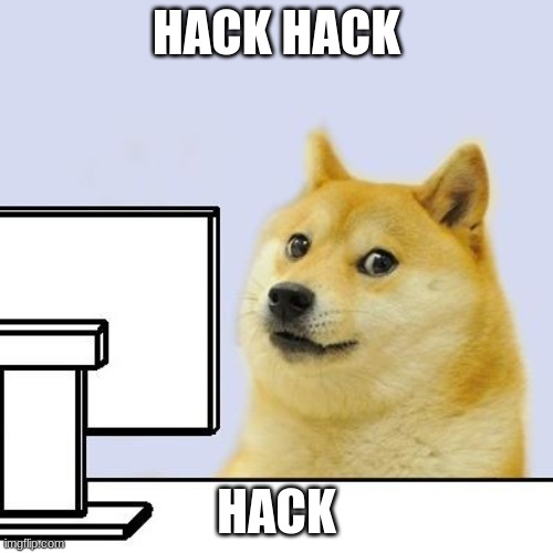 HACK HACK; HACK | image tagged in hacker doge | made w/ Imgflip meme maker