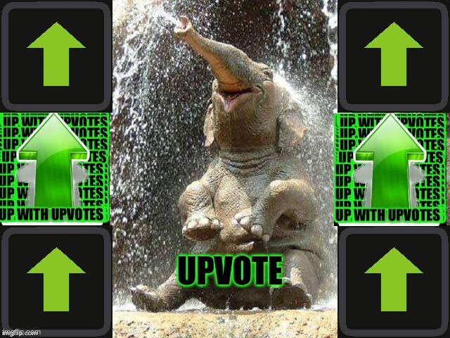 Upvote Elephant |  UPVOTE | image tagged in upvote elephant | made w/ Imgflip meme maker