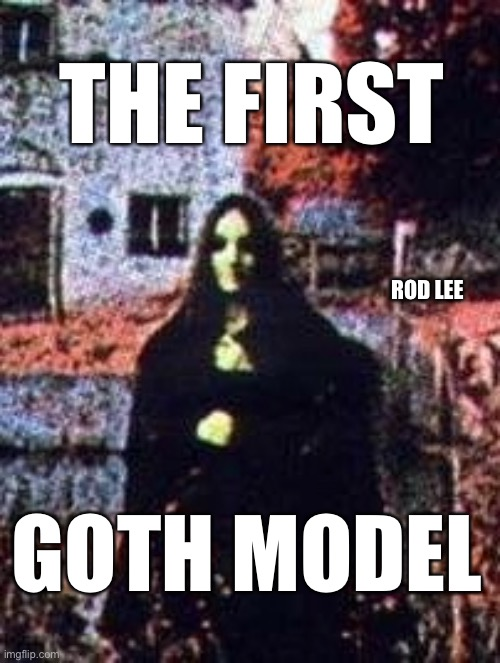 Goth model |  THE FIRST; ROD LEE; GOTH MODEL | image tagged in models,goth people,gifs sexy hot pretty beautiful gorgeous | made w/ Imgflip meme maker