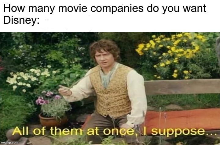 All of them |  How many movie companies do you want Disney: | image tagged in great wall of trump | made w/ Imgflip meme maker