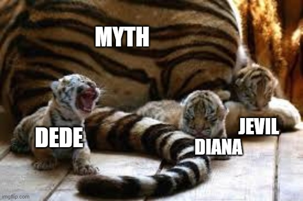 Bebe tigers | DIANA DEDE JEVIL MYTH | image tagged in cute,ocs,babies | made w/ Imgflip meme maker