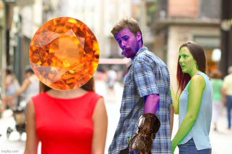 Soul stone | image tagged in thanos,distracted boyfriend | made w/ Imgflip meme maker