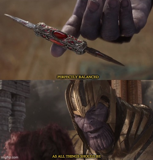 Image tagged in thanos perfectly balanced,thanos - Imgflip