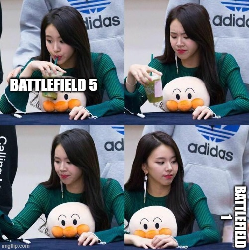 good water | BATTLEFIELD 5 BATTLEFIELD 1 | image tagged in good,best,comparison | made w/ Imgflip meme maker