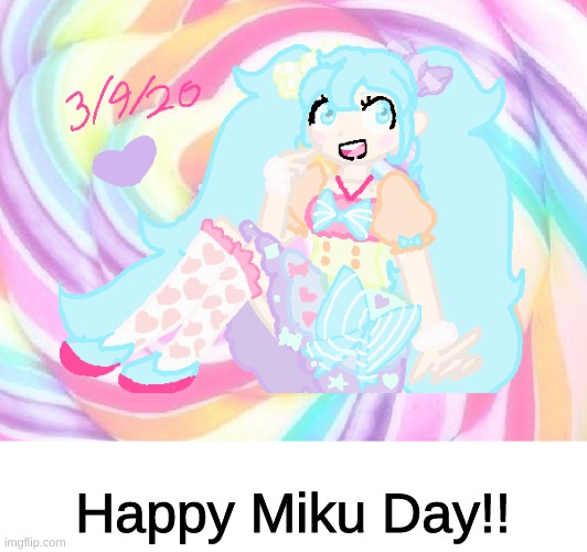 Yeah!! :D |  Happy Miku Day!! | made w/ Imgflip meme maker