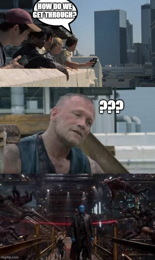 Michael Rooker |  HOW DO WE GET THROUGH? ??? | image tagged in memes,funny,fun,twd,the walking dead | made w/ Imgflip meme maker