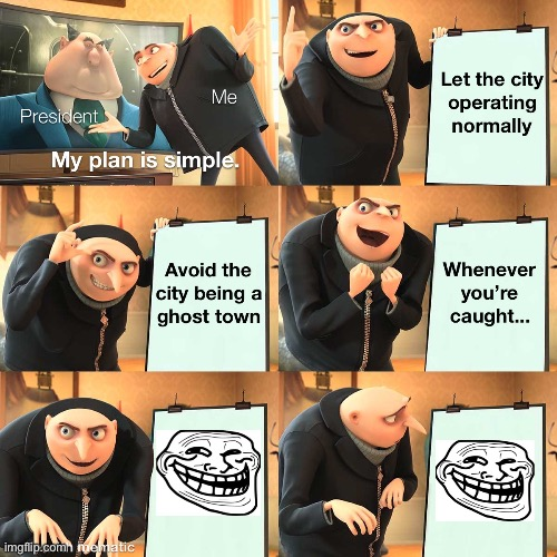 Gru's Plan before getting trolled | image tagged in despicable me,troll,gru's plan,funny memes,funny,troll face | made w/ Imgflip meme maker