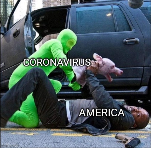 Legendary |  CORONAVIRUS; AMERICA | image tagged in coronavirus,will smith,pandemic,crisis | made w/ Imgflip meme maker