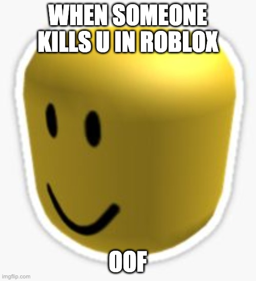 WHEN SOMEONE KILLS U IN ROBLOX OOF | image tagged in oof | made w/ Imgflip meme maker