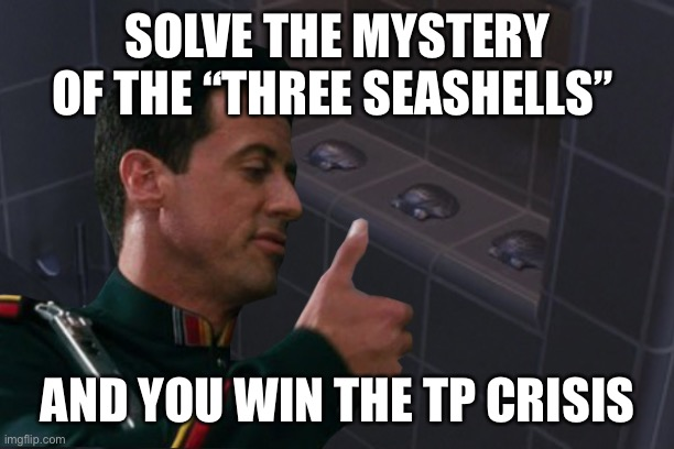 "SOLVE THE MYSTERY OF THE ""THREE SEASHELLS""; AND YOU WIN THE TP CRISIS 