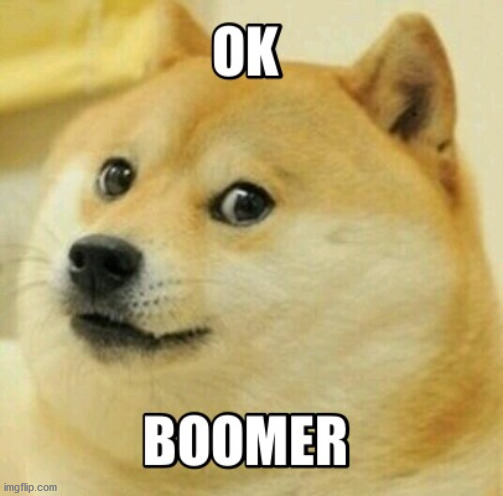 Ok boomer | image tagged in ok boomer | made w/ Imgflip meme maker