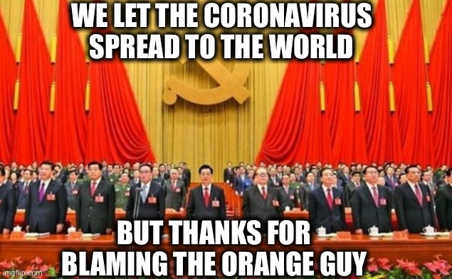 Dear Democrats and U.S. mainstream media: |  WE LET THE CORONAVIRUS SPREAD TO THE WORLD; BUT THANKS FOR BLAMING THE ORANGE GUY | image tagged in mainstream media,coronavirus,democrats,democratic party,china | made w/ Imgflip meme maker