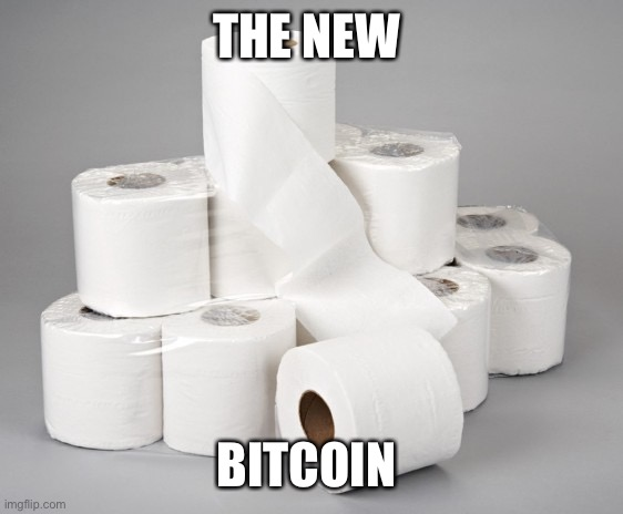toilet paper | THE NEW BITCOIN | image tagged in toilet paper | made w/ Imgflip meme maker