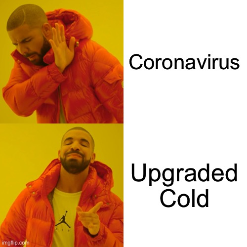 Drake Hotline Bling Meme | Coronavirus Upgraded Cold | image tagged in memes,drake hotline bling | made w/ Imgflip meme maker