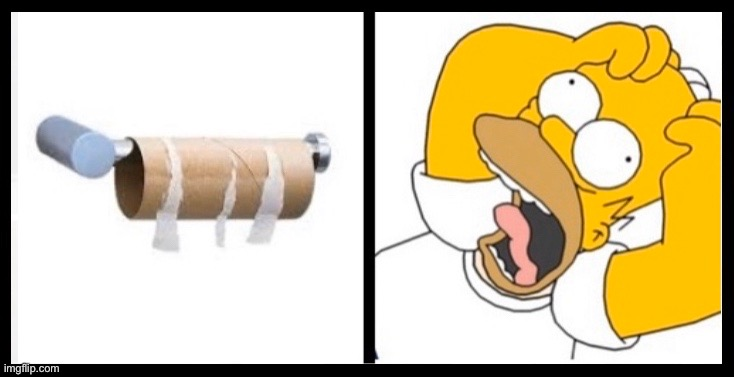 image tagged in toilet paper shortage,toilet paper,homer simpson toilet paper,homer simpson,no toilet paper,out of toilet paper | made w/ Imgflip meme maker