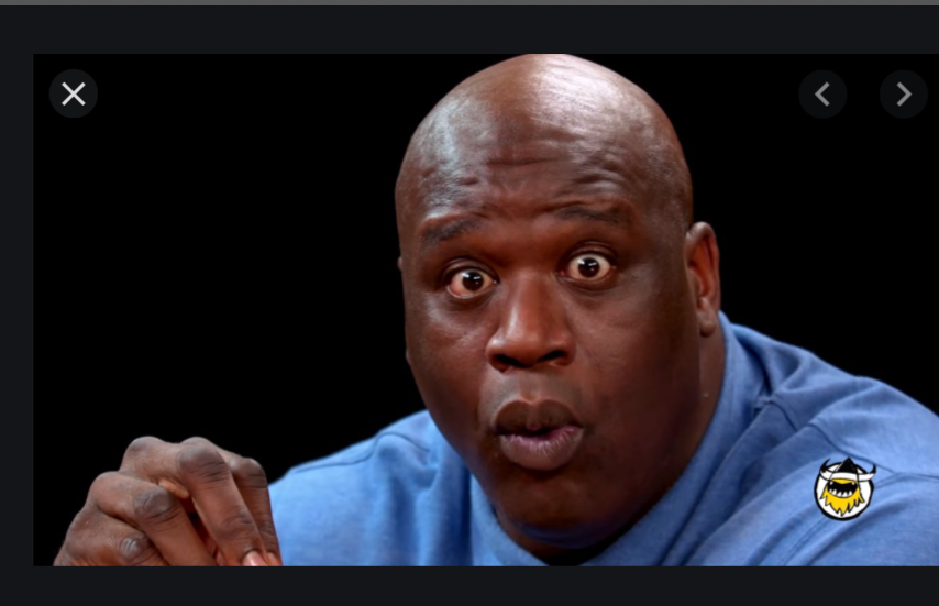 Shaq eating hot wings Blank Template - Imgflip