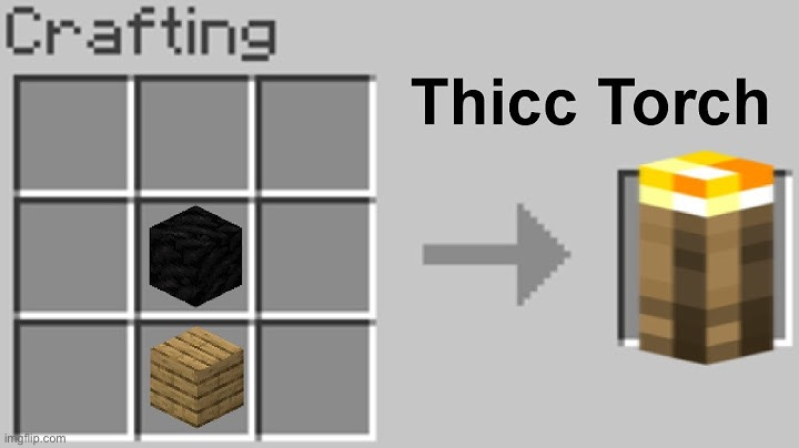 Thicc torch | image tagged in torch,minecraft,thicc | made w/ Imgflip meme maker