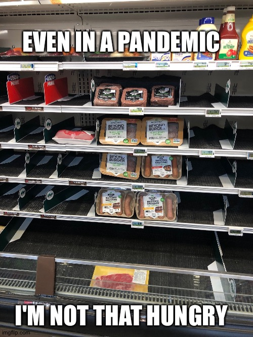 EVEN IN A PANDEMIC I'M NOT THAT HUNGRY | image tagged in pandemic,food | made w/ Imgflip meme maker