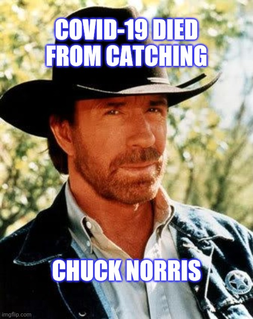 Corona virus is no match for Chuck Norris |  COVID-19 DIED FROM CATCHING; CHUCK NORRIS | image tagged in memes,chuck norris,coronavirus | made w/ Imgflip meme maker