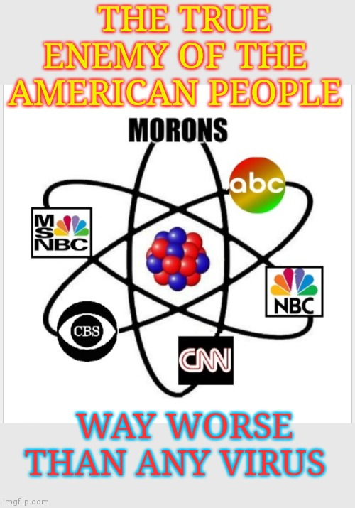 DON'T BELIEVE THE LIBERAL MEDIA! |  THE TRUE ENEMY OF THE AMERICAN PEOPLE; WAY WORSE THAN ANY VIRUS | image tagged in stupid liberals,democratic socialism,demons,lame,msm lies,biased media | made w/ Imgflip meme maker